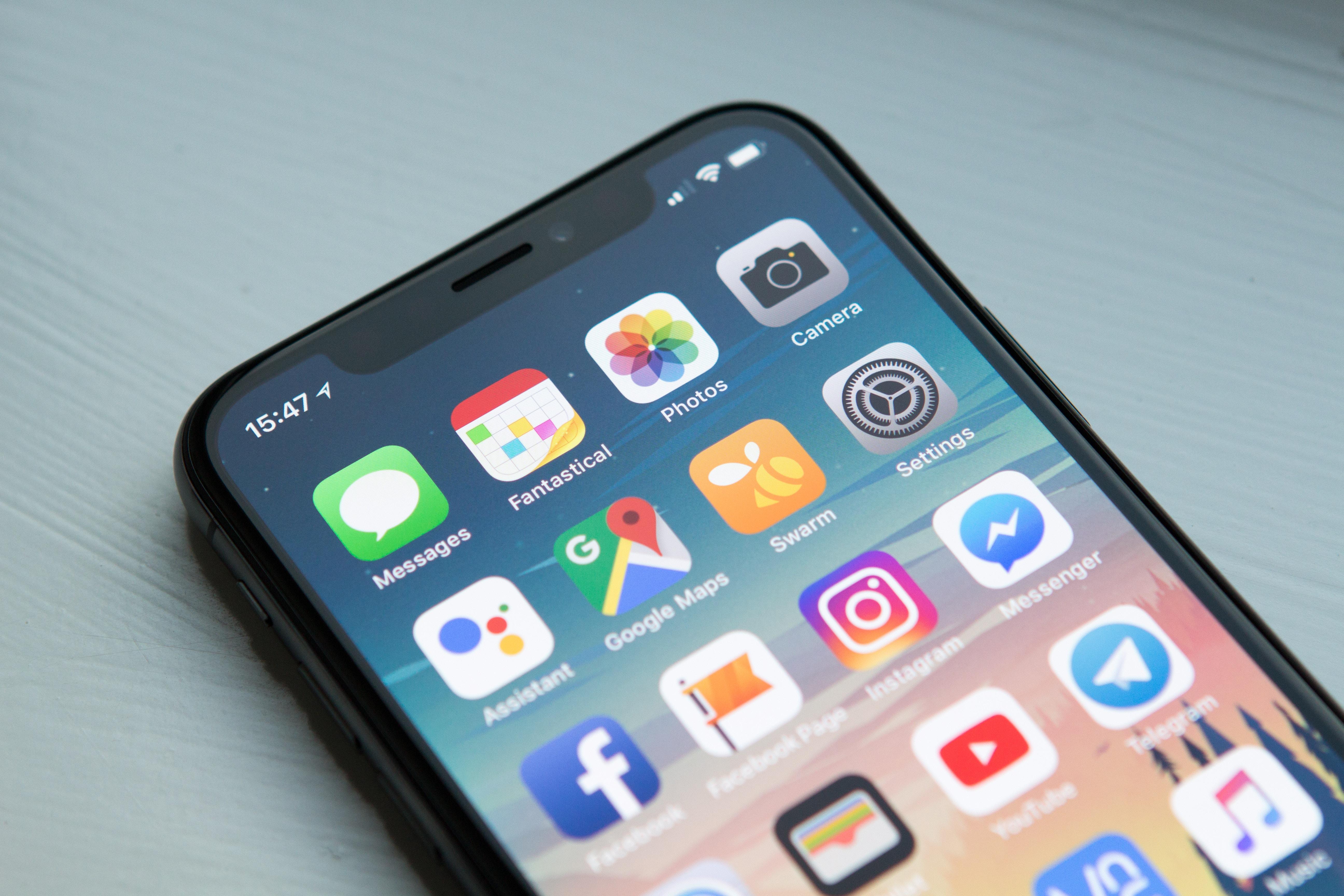 Applications sur iPhone