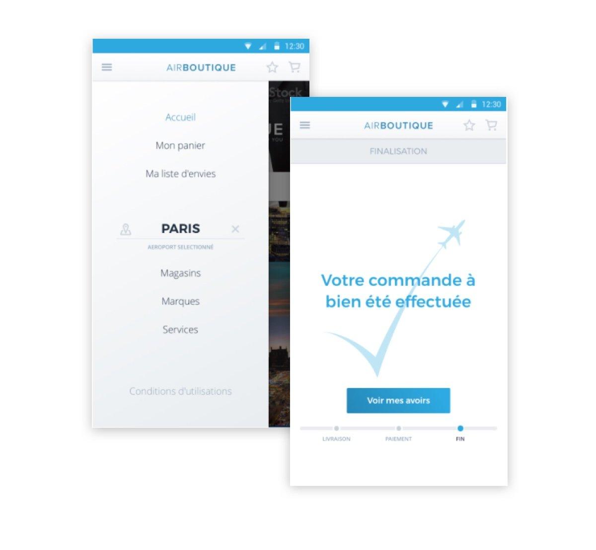 Maquettes application mobile - Synbioz