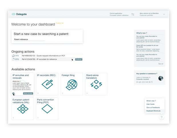 Maquettes application web - Synbioz