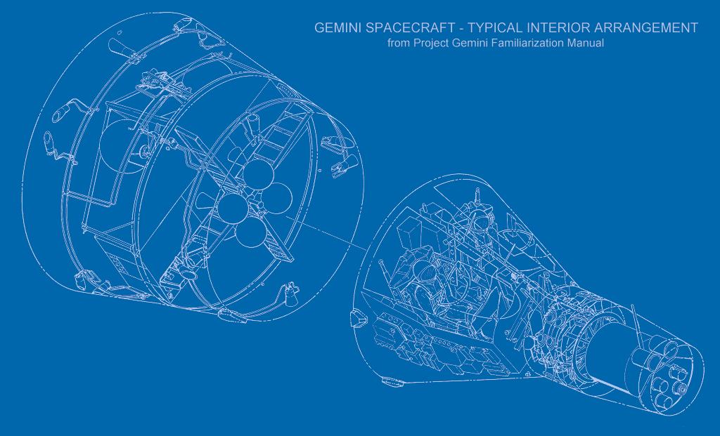 schéma de la capsule spatiale Gemini 1