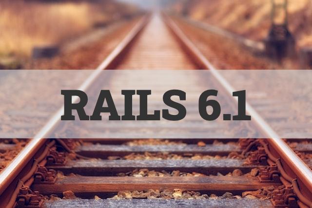 Rails 6.1 affiché en surimpression sur des rails